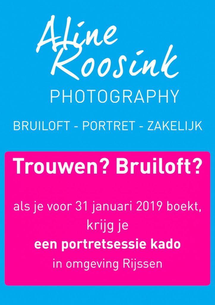 Aline Roosink Photography bruiloft actie t/m 31 januarie 2019